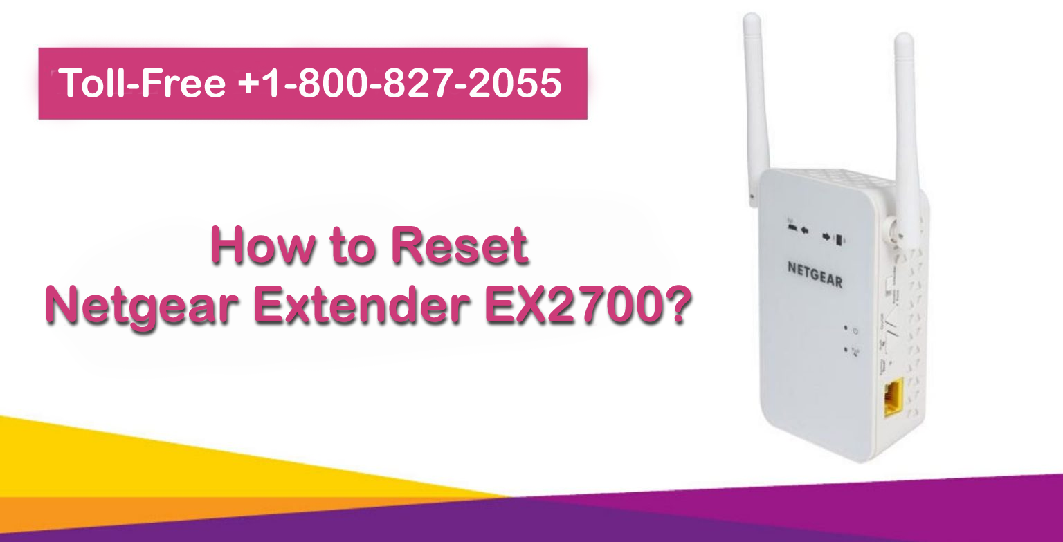 how to reset Netgear extender EX2700